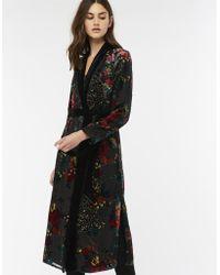 Monsoon - Prisha Peacock Devore Kimono Jacket - Lyst