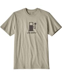 Patagonia - Live Simply Power Responsibili-tee - Lyst