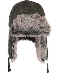 cbf5d1765 Trapper Knit Hat With Faux Fur Hat