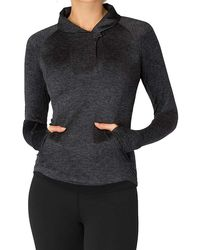 Beyond Yoga - Featherweight Spacedye Shawl Collar Fitted Pullover - Lyst