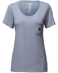 The North Face - Tri-blend Pocket Ss Tee - Lyst