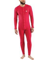 Carhartt - Classic Cotton-poly Union Suit - Lyst