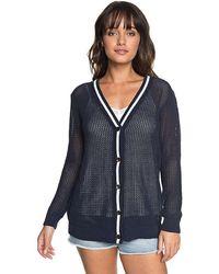 Roxy - City Escape Cardigan (dress Blues) Women's Sweater - Lyst