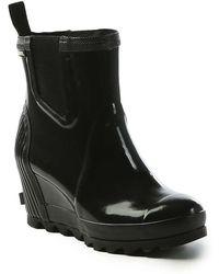 Sorel | Joan Rain Wedge Chelsea Gloss Boot | Lyst