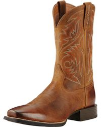 10fa18edd0a Ariat Sport Horseman Cowboy Boot in Blue for Men - Lyst