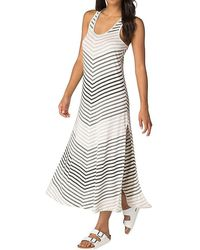 Beyond Yoga - Bring It Ommmbre Striped Midi Dress - Lyst