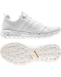 lyst adidas originali bianco defiant scarpe bianche tubolari