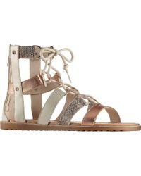 Sorel - Ella Lace Up Leather Galdiator Sandals - Lyst