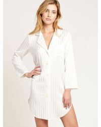 Morgan Lane - Jillian Night Shirt In Blanc - Lyst