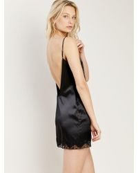 Morgan Lane - Gisele Nightgown In Noir - Lyst