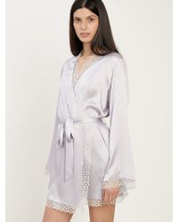 Morgan Lane - Sera Robe In Lilac - Lyst