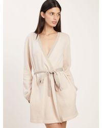 Morgan Lane - Bella Robe In Cashmere Vanilla - Lyst