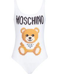 Moschino - Pixel Capsule Teddy Bear One-piece Swimsuit - Lyst