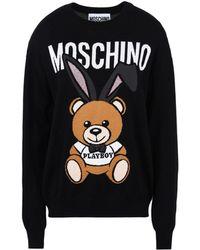 Moschino - Long Sleeve Jumper - Lyst