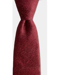 Moss Bros - Red Silk & Linen Melange Tie - Lyst