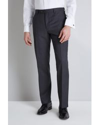 Ted Baker - Tailored Fit Grey Pindot Trousers - Lyst