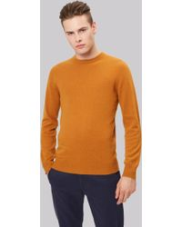 Moss London - Orange Crew Neck Jumper - Lyst