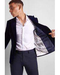 0e43aa5093d92b Moss London Slim Fit Black Velvet Jacket in Black for Men - Lyst
