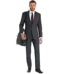 French Connection - Slim Fit Grey Check Suit - Lyst