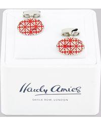 Hardy Amies - Monogram Cufflinks - Lyst