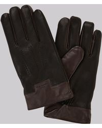 Ted Baker - Black Leather Gloves - Lyst