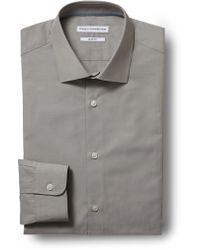 French Connection - Slim Fit Tobacco Single Cuff Chambray Shirt - Lyst