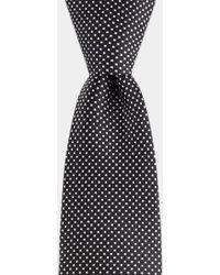 DKNY - Black With White Spot Tie - Lyst