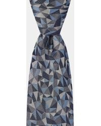 Hardy Amies - Blue Multi-triangle Geo Tie - Lyst