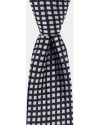 DKNY - Navy With White Cross Pattern Tie - Lyst