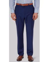 Moss Esq. - Performance Regular Fit Bright Blue Trousers - Lyst
