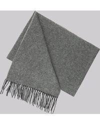 DKNY - Charcoal Plain Wool Scarf - Lyst