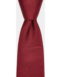 Moss Bros - Burgundy Semi-textured Silk Tie - Lyst