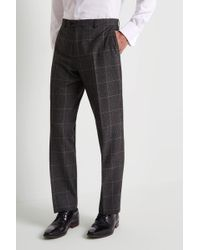 Moss Esq. - Regular Fit Bold Prince Of Wales Check Trousers - Lyst