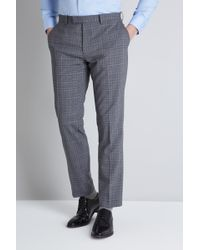 Lanificio F.lli Cerruti Dal 1881 - Cloth Tailored Fit Grey Check Itravel Trouser - Lyst