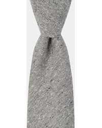 Hardy Amies - Grey Spun Silk Tie - Lyst
