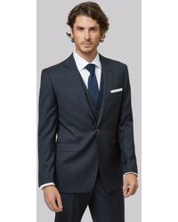 Lanificio F.lli Cerruti Dal 1881 - Cloth Tailored Fit Navy Jacket - Lyst
