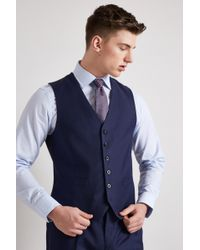 Hardy Amies - Tailored Fit French Navy Twill Waistcoat - Lyst