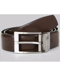 Ted Baker - Reversible 'connary' Belt Black/brown - Lyst