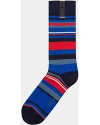 Ted Baker - Harisli Navy Striped Socks - Lyst