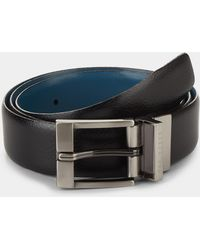 Ted Baker - Longas Black/blue Reversible Belt - Lyst