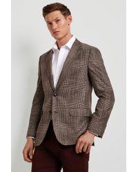 Ermenegildo Zegna - Tailored Fit Brown Check Jacket - Lyst