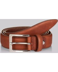 Hardy Amies - Tan Real Leather Belt - Lyst