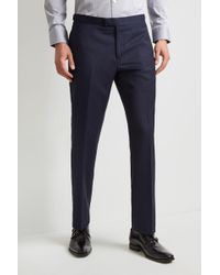 Hardy Amies - Tailored Fit Navy Stripe Trouser - Lyst