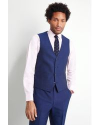 French Connection - Slim Fit Teal Waistcoat - Lyst