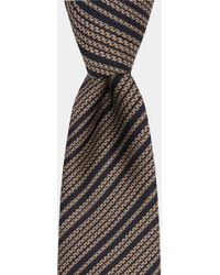 Hardy Amies - Navy With Taupe Stripe Tie - Lyst