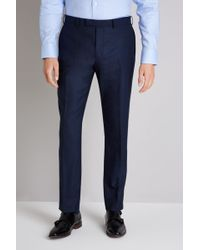 Ermenegildo Zegna - Tailored Fit Ink Trousers - Lyst