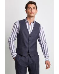 73cfb99298 Express Light Gray Oxford Cloth Suit Vest in Gray for Men - Lyst