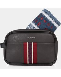 Ted Baker - Smitset Washbag Chocolate With Towel - Lyst