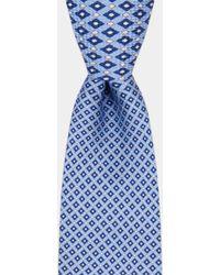 DKNY - Sky With Navy Geo Print Tie - Lyst