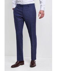 Lanificio F.lli Cerruti Dal 1881 - Cloth Tailored Fit Bold Blue Check Milled Itravel Trousers - Lyst